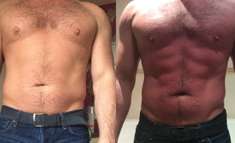 Inkfish Body LipoFirm Pro _b&A_afterONEtreatment_stomach_male
